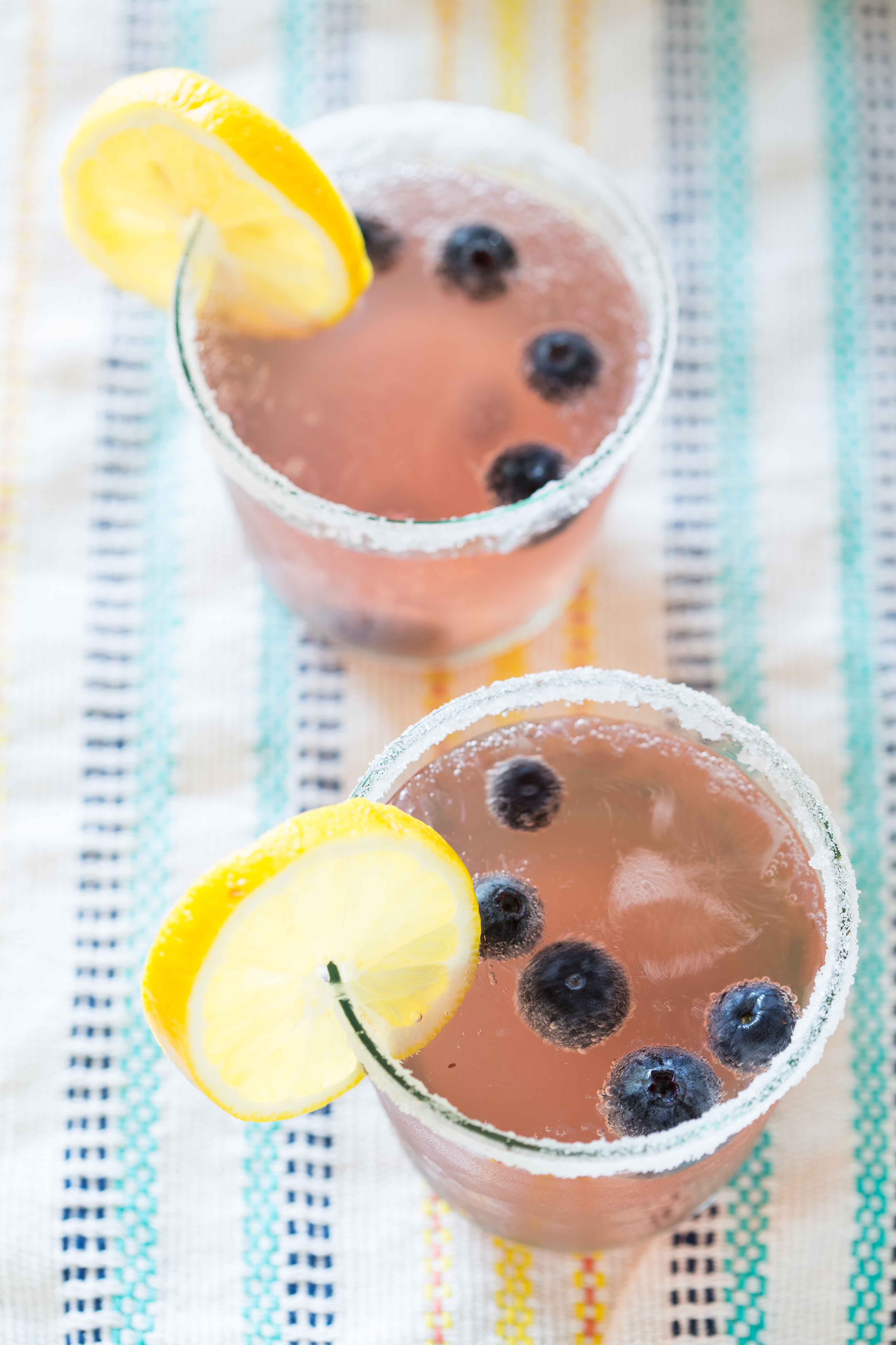 Spiked Blueberry Lemonade Punch