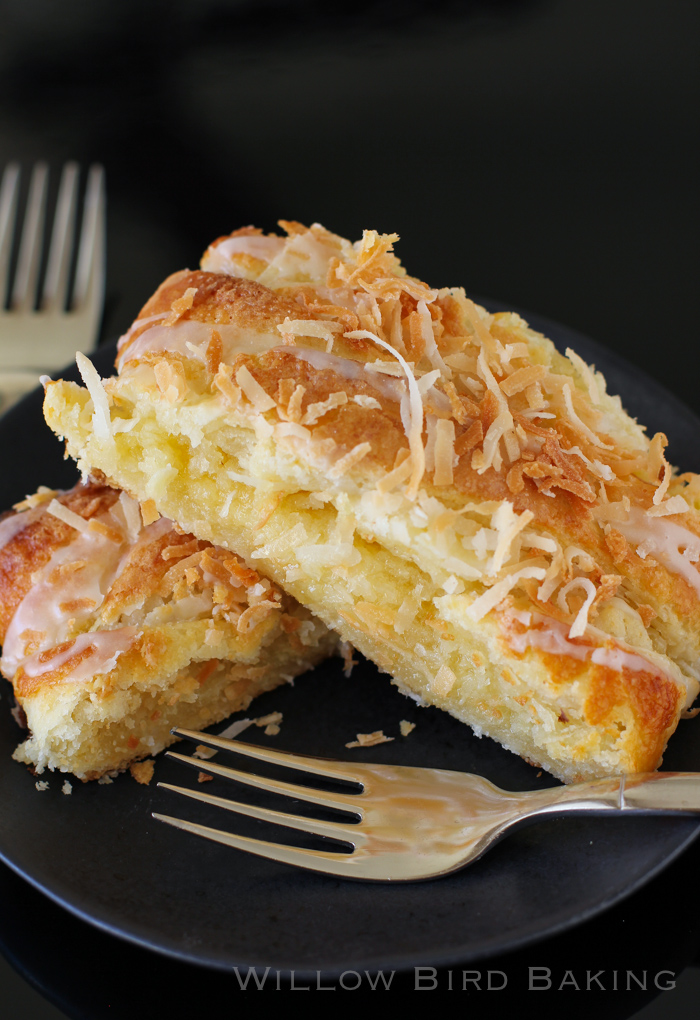 Almond Coconut Pastry Braid Recipe from Willow Bird Baking