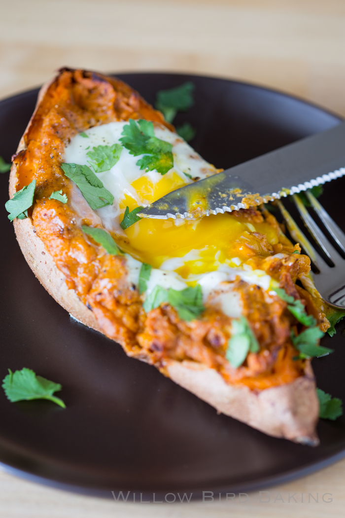 Twice-Baked Sweet Potato Egg Boats