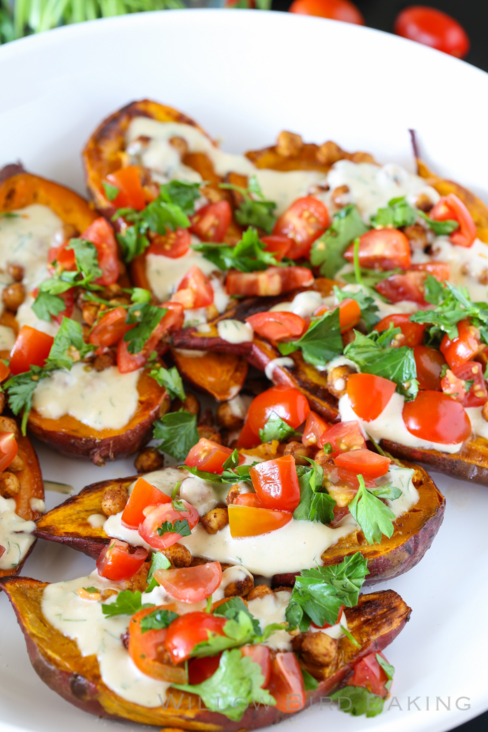 Mediterranean Baked Sweet Potatoes Willow Bird Baking