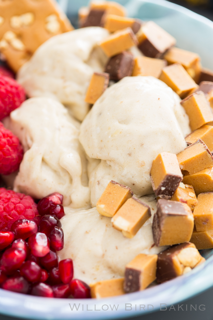Banana Ice Cream with FitJoy Chocolate Peanut Butter Protein Bars