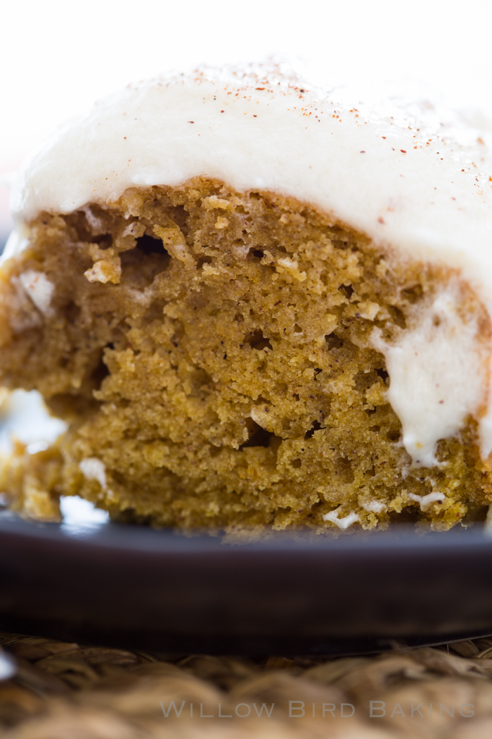 Brown Butter Pumpkin Cake with Whipped Icing