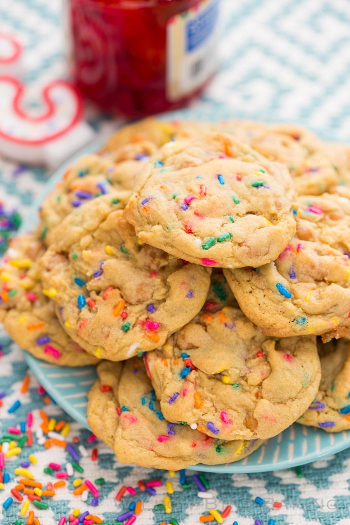 Birthday Cake Pudding Mix Cookies