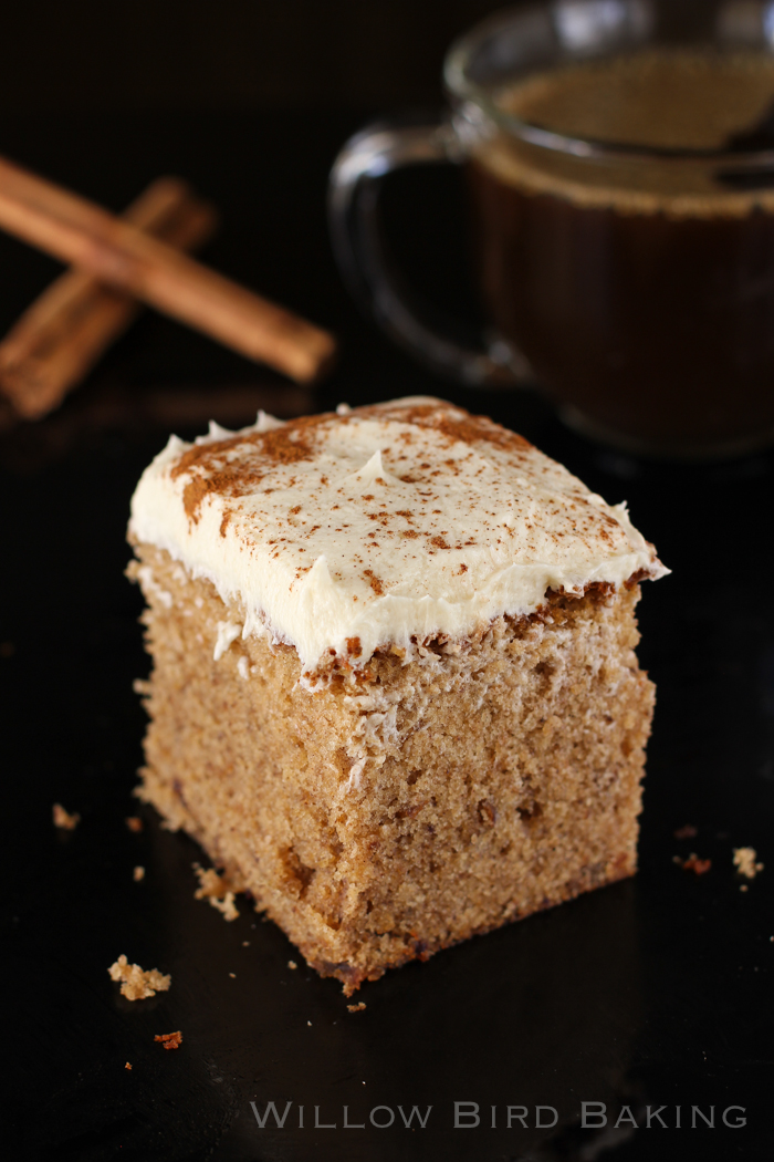 Brown Butter Spice Cake with Whipped Icing