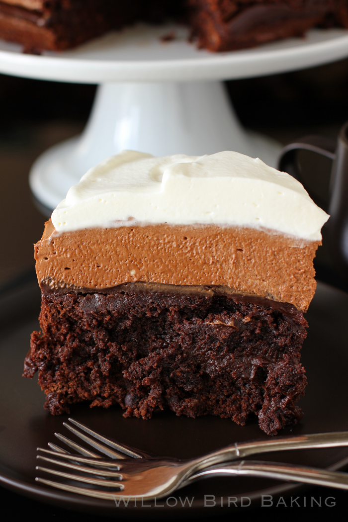 Brownie Blackout Mousse Cake