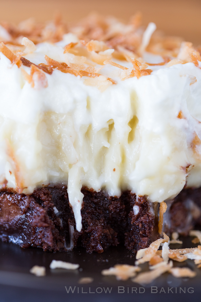 Willow Bird Baking's Best Recipes of 2016: COCONUT CREAM BROWNIES