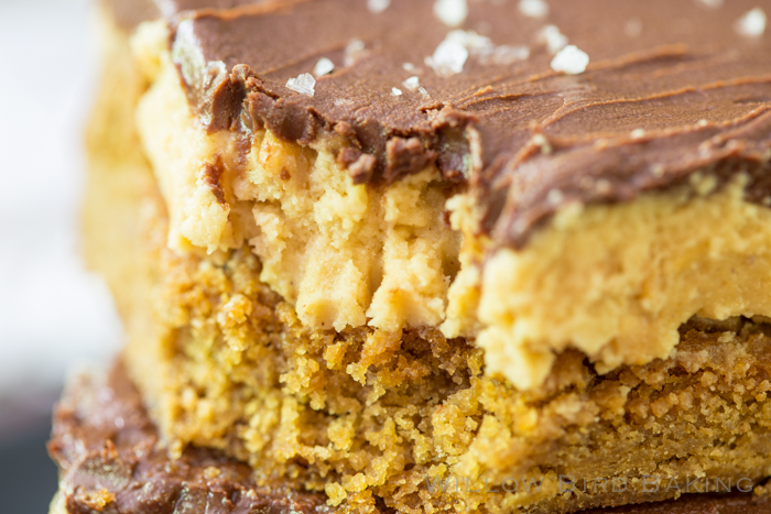 Buckeye Peanut Butter Cookie Bars