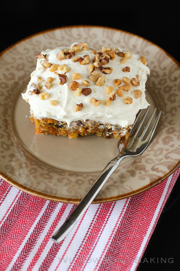 Easy Carrot Cake with Whipped Icing