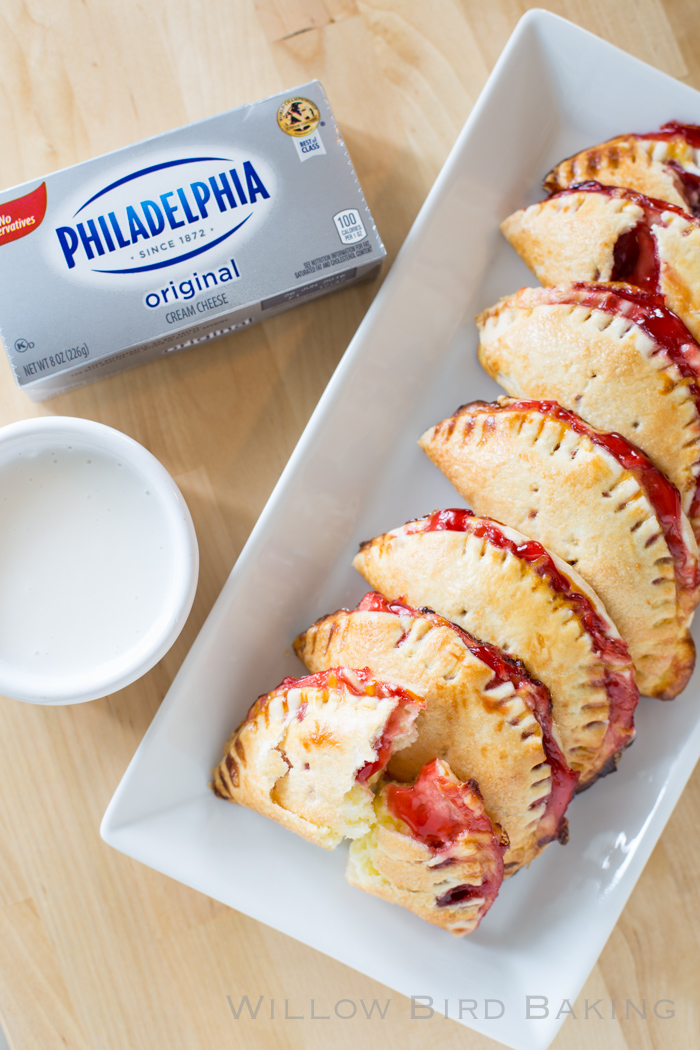 Quick and Easy Cherry Cheesecake Pie Bites