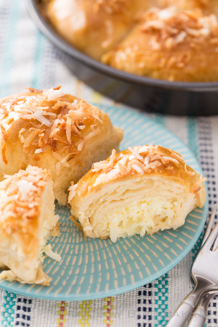 Coconut Cheesecake Biscuit Bombs