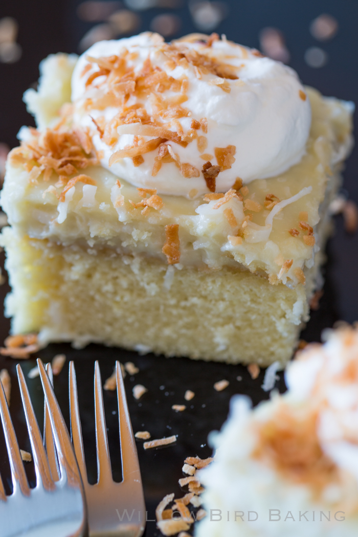 Coconut Cream Snack Cake