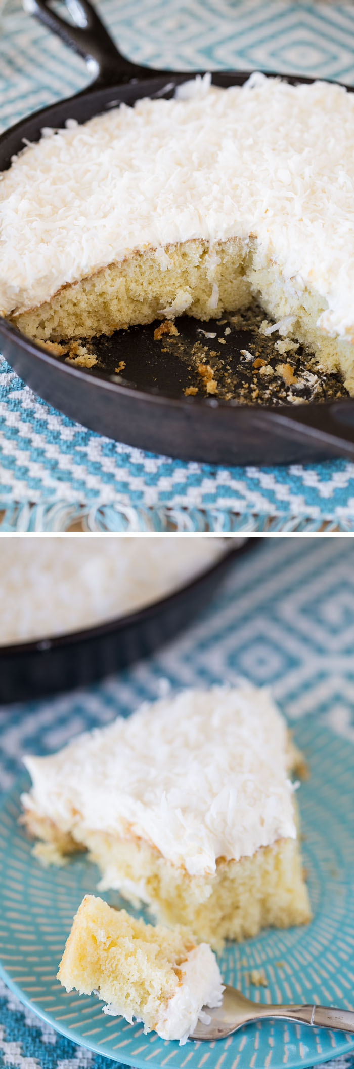 Coconut Tres Leches Skillet Cake