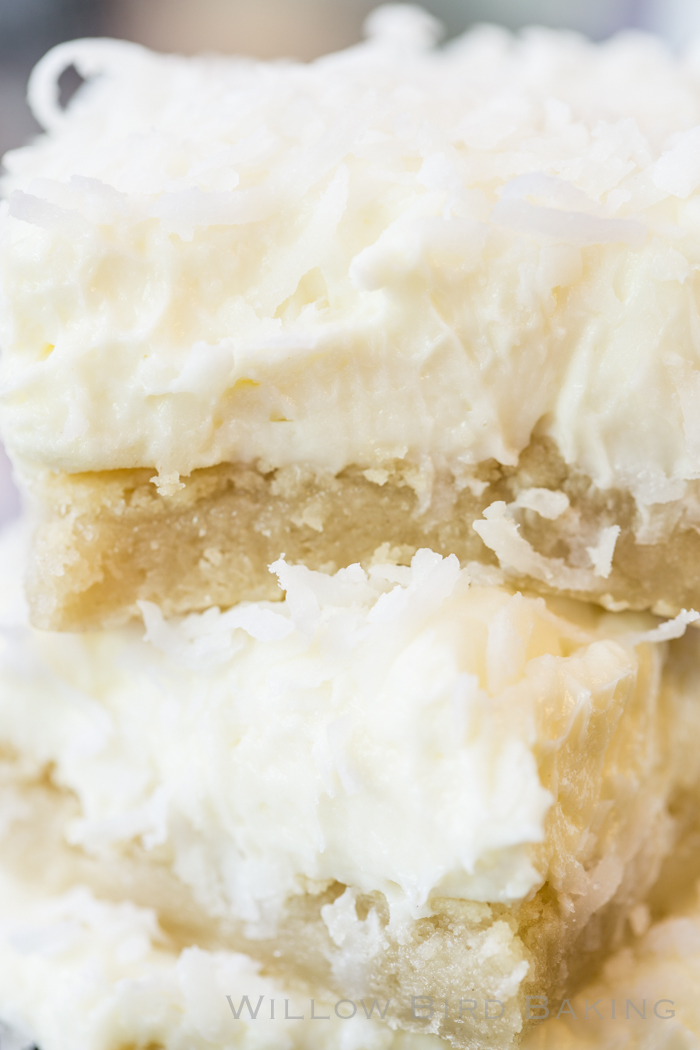 Coconut Cream Sugar Cookie Bars