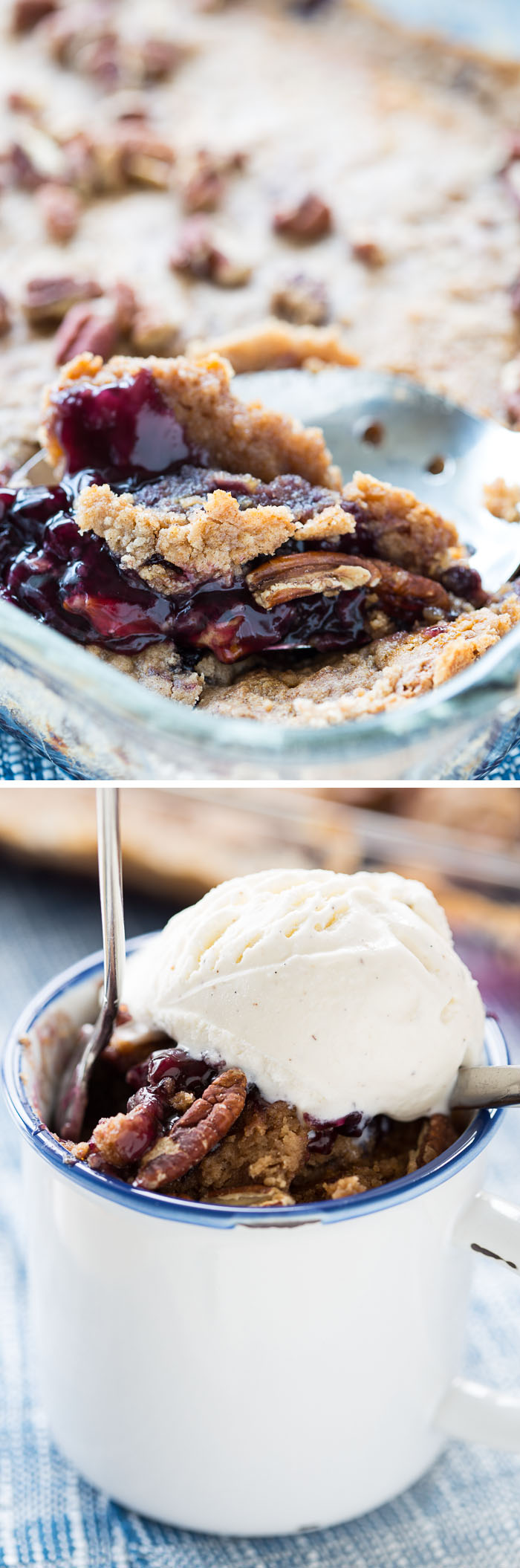 4-Ingredient Blueberry Cobbler Dump Cake