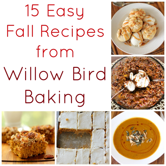 15 Easy Fall Recipes from Willow Bird Baking