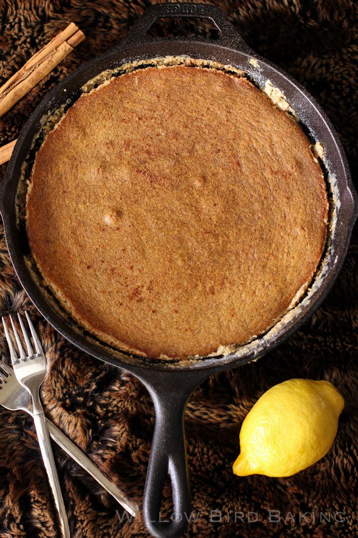 Gingerbread Gooey Butter Cake Ice Cream Sundae