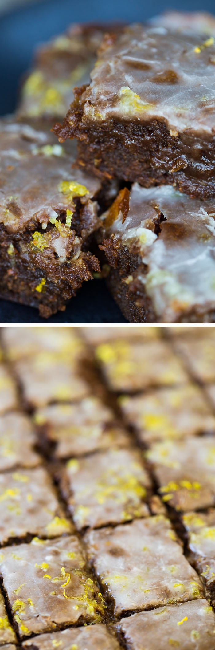 Warm Lemon-Glazed Gingerbread Bars