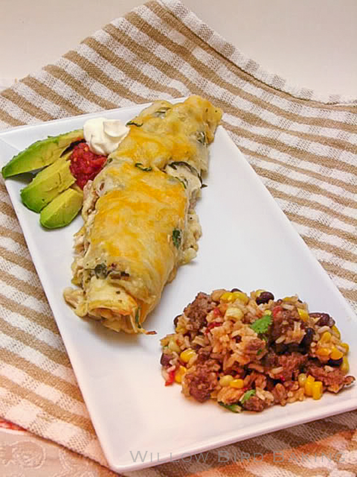 Creamy Chicken and Green Chile Enchiladas