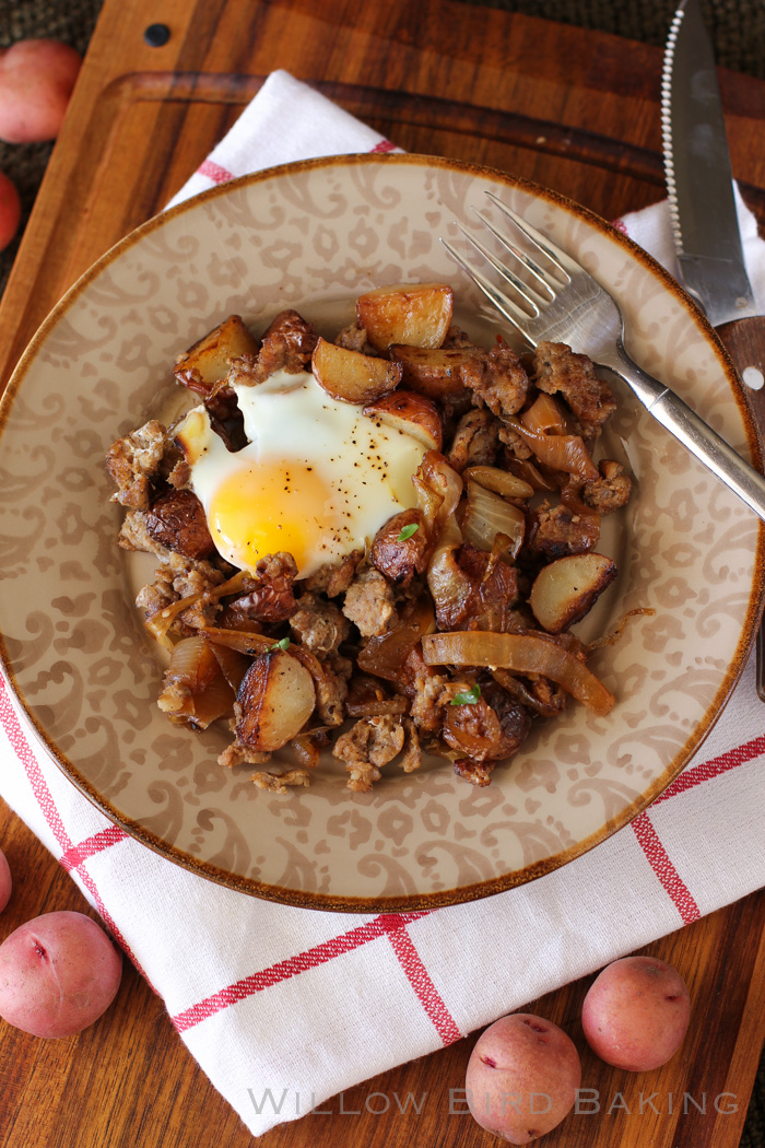 Sausage & Caramelized Onion Breakfast Hash