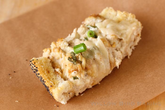Hot Crab Dip in a Lemon-Garlic Baguette