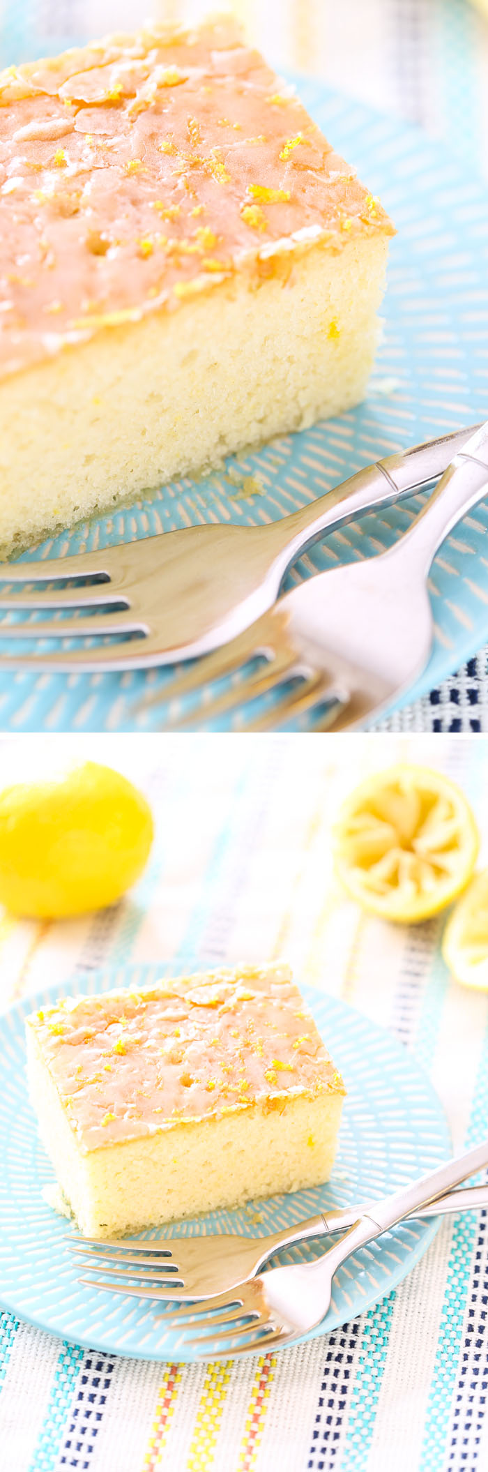 Quick and Easy Iced Lemon Cake - Willow Bird Baking