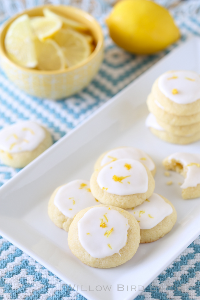 Lemon Meltaway Cookies - Willow Bird Baking