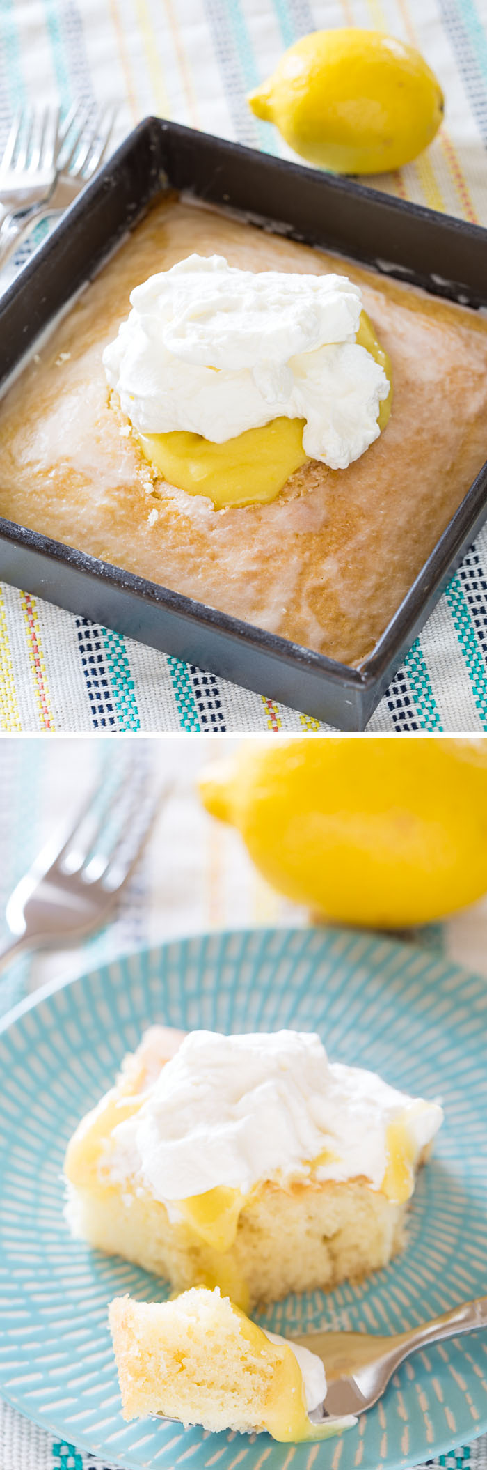 Lemon Curd Cream Cake