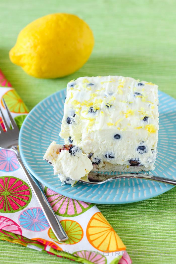Lemon Blueberry Fluff Bars