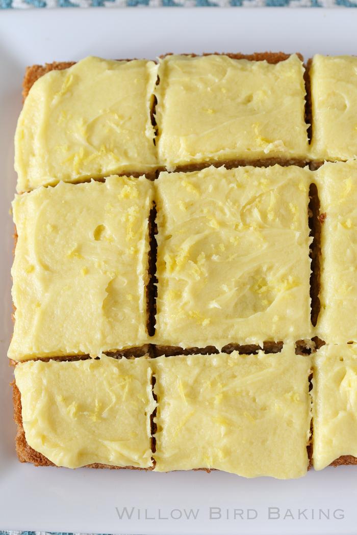 Quick Lemon-Iced Yellow Cake