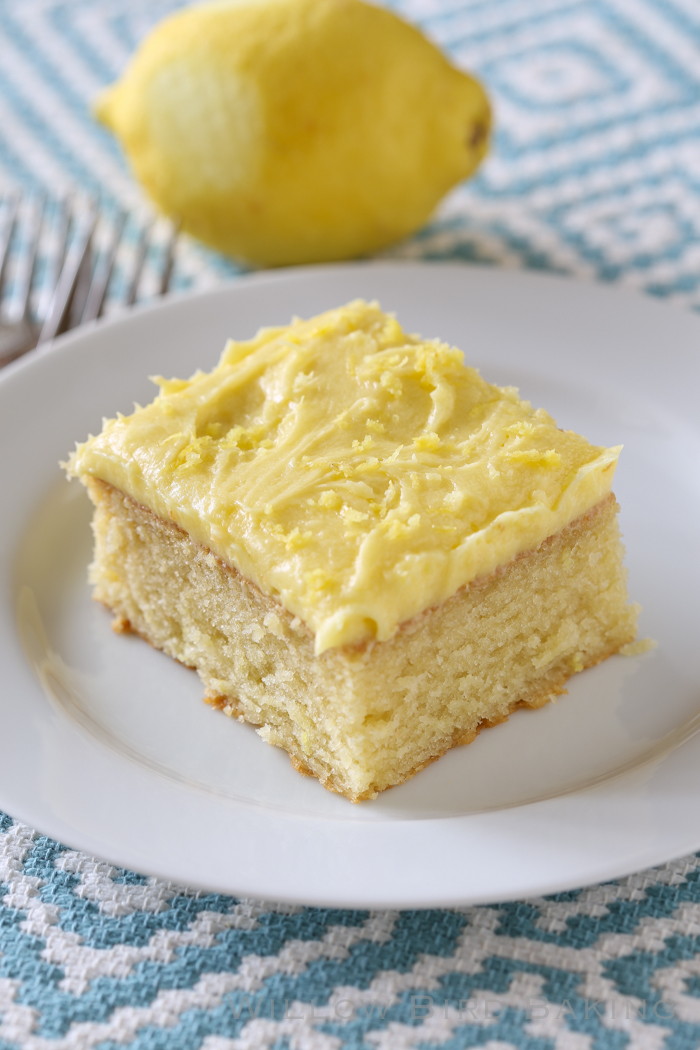 Quick Lemon-Iced Yellow Cake