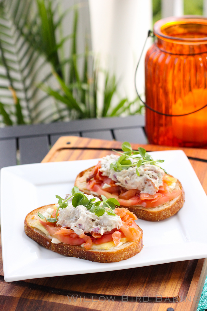 Smoked Salmon and Whitefish Salad Melts