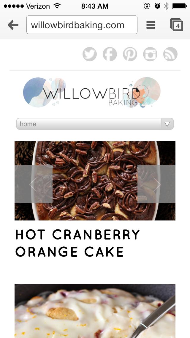 Willow Bird Baking Website Tour
