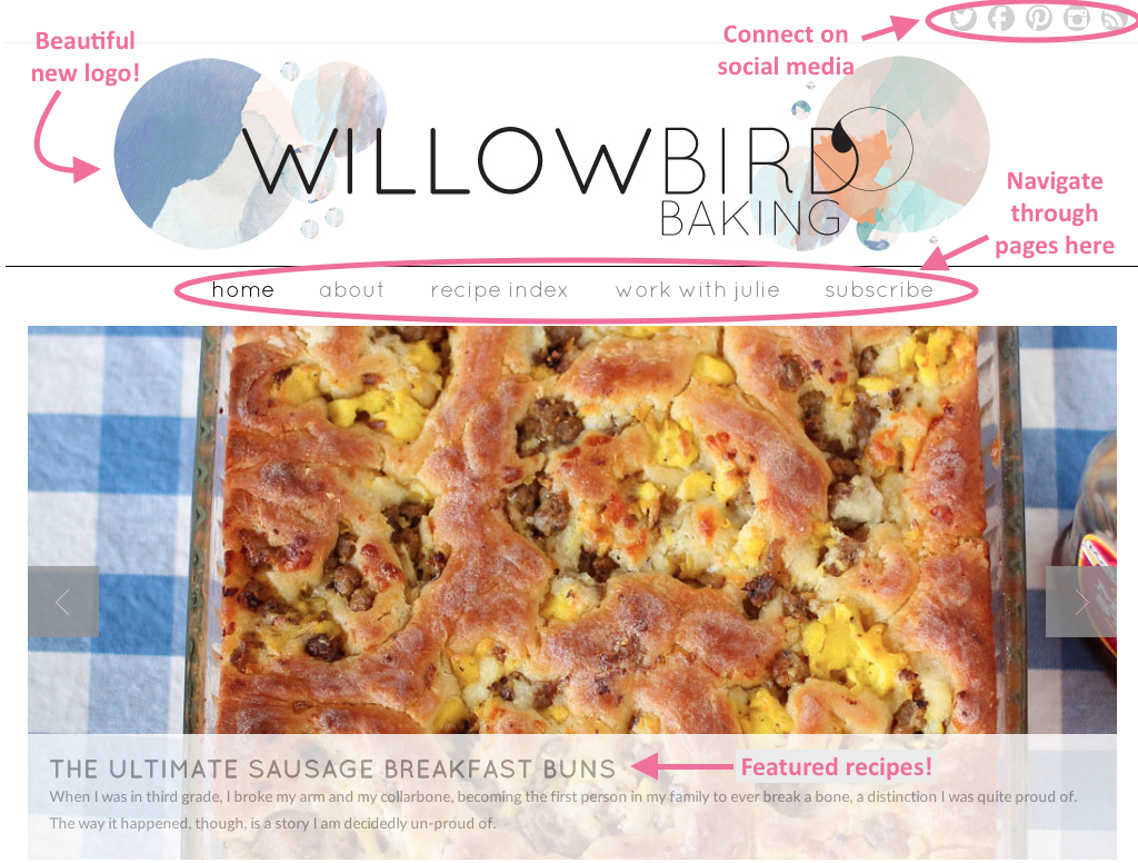 Welcome to the New Willow Bird Baking!