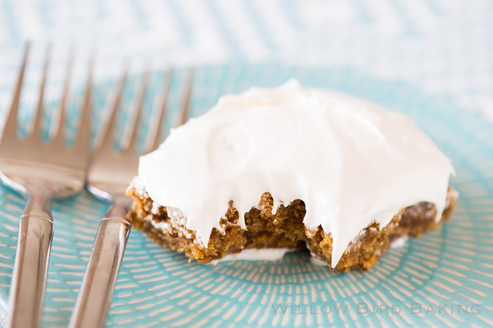 Chewy Brown Butter Oatmeal Creme Pie Bars