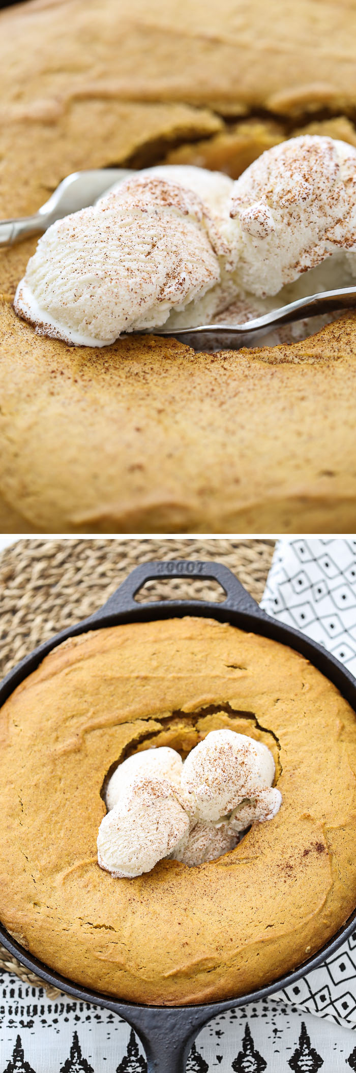 Pumpkin Cake with Oatmeal Cookie Crust