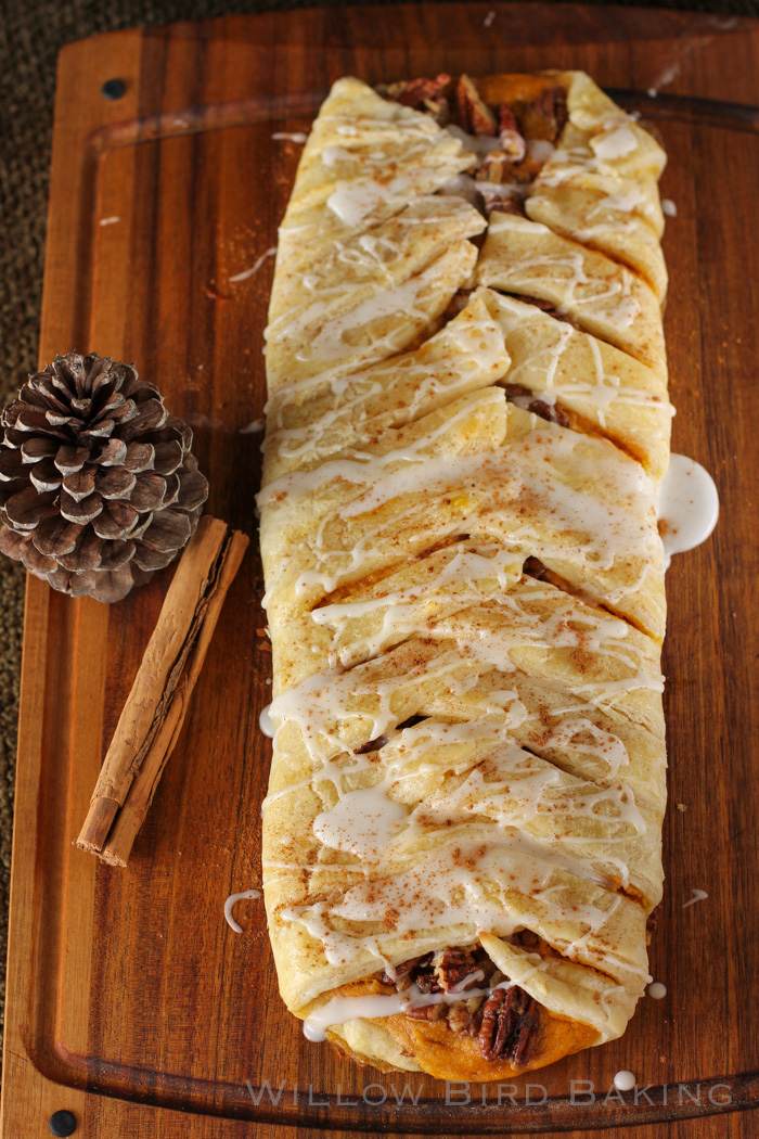 Pumpkin and Pecan Pie Pastry Braid