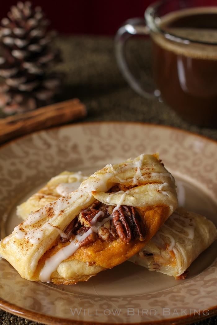 Pumpkin and Pecan Pie Pastry Braid