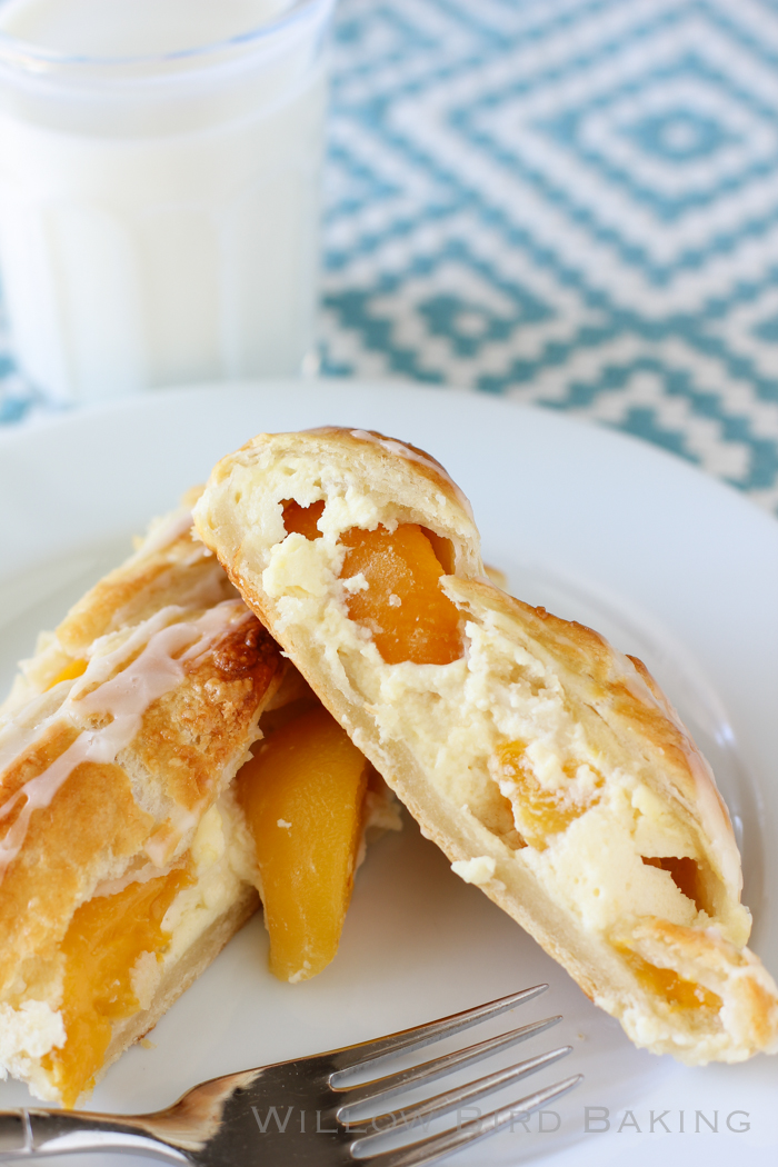 Peaches and Cream Cheesecake Braid recipe from Willow Bird Baking
