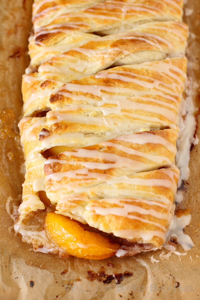 Peach Cobbler Pastry Braid recipe from Willow Bird Baking