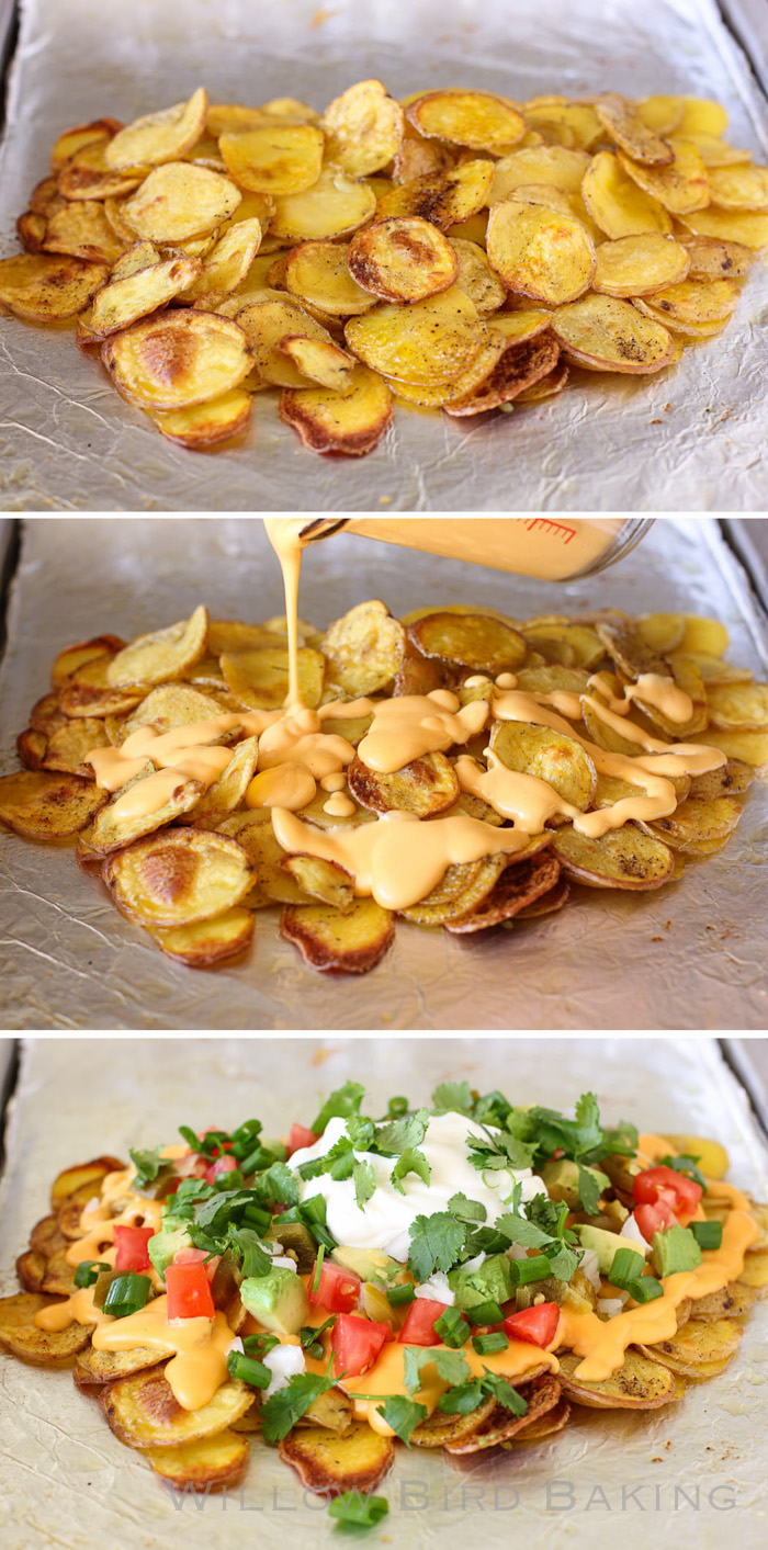 Over-the-Top Loaded Potato Nachos