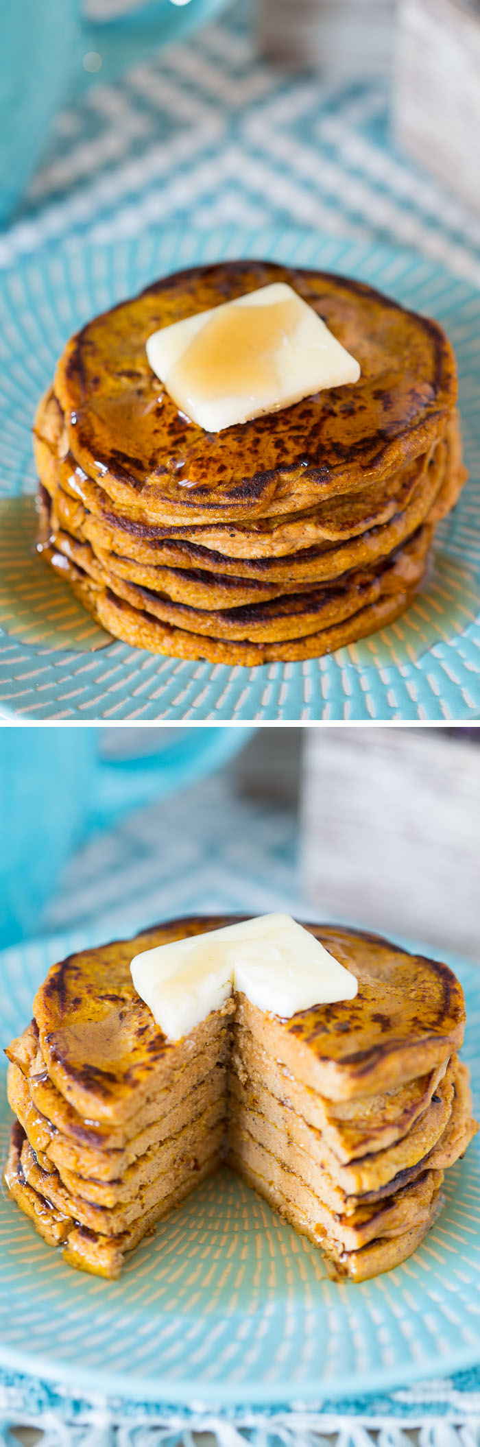 Five-Ingredient Pumpkin Protein Pancakes