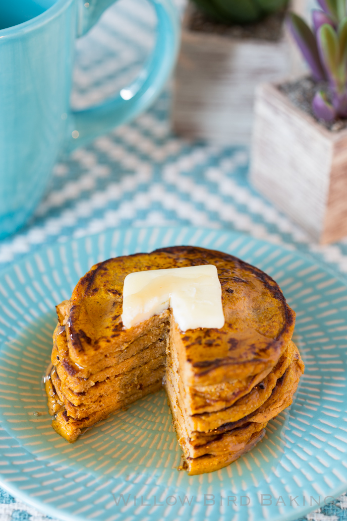 Five-Ingredient Pumpkin Protein Pancakes (low-carb, gluten-free, refined sugar–free)