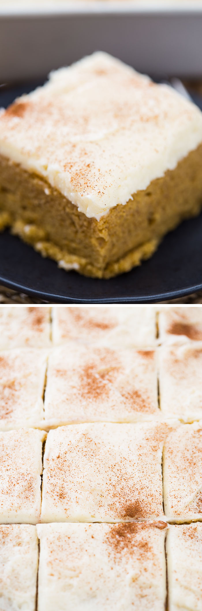 Pumpkin Bars with Whipped Chai Frosting