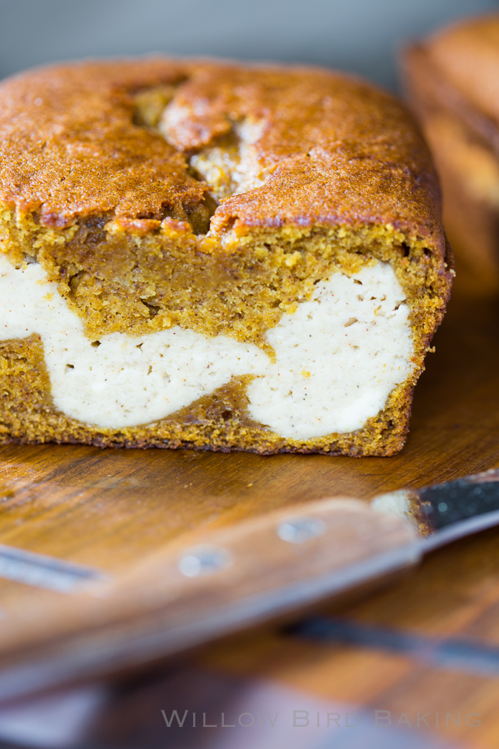 Pumpkin Bread Stuffed with Chai Cheesecake