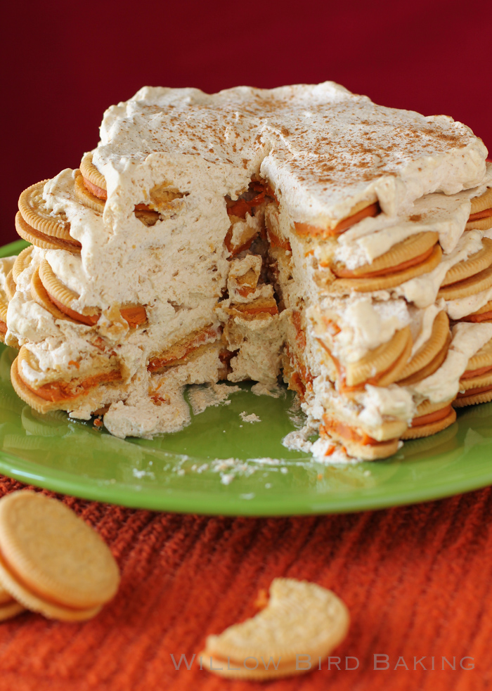No-Bake Pumpkin Spice Icebox Cake
