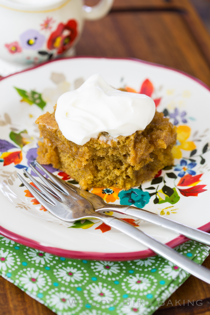 Brown Butter Pumpkin Rum Cake