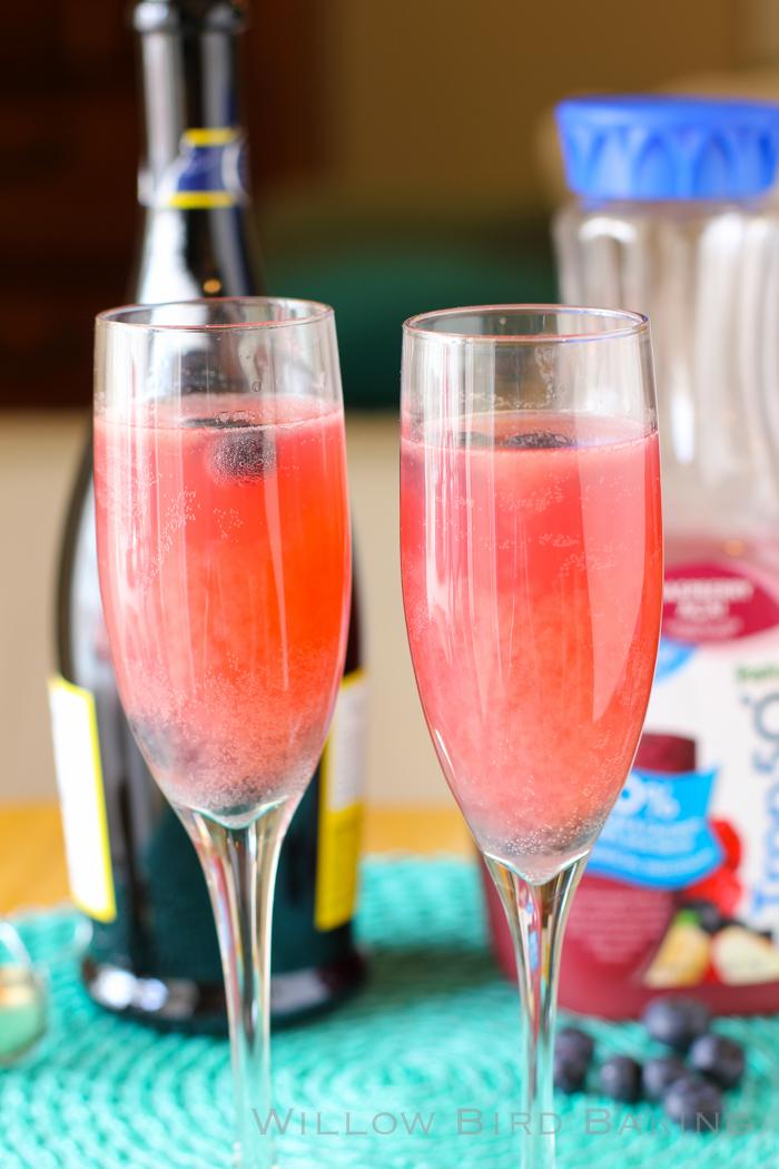 Raspberry Açaí Prosecco Cocktail