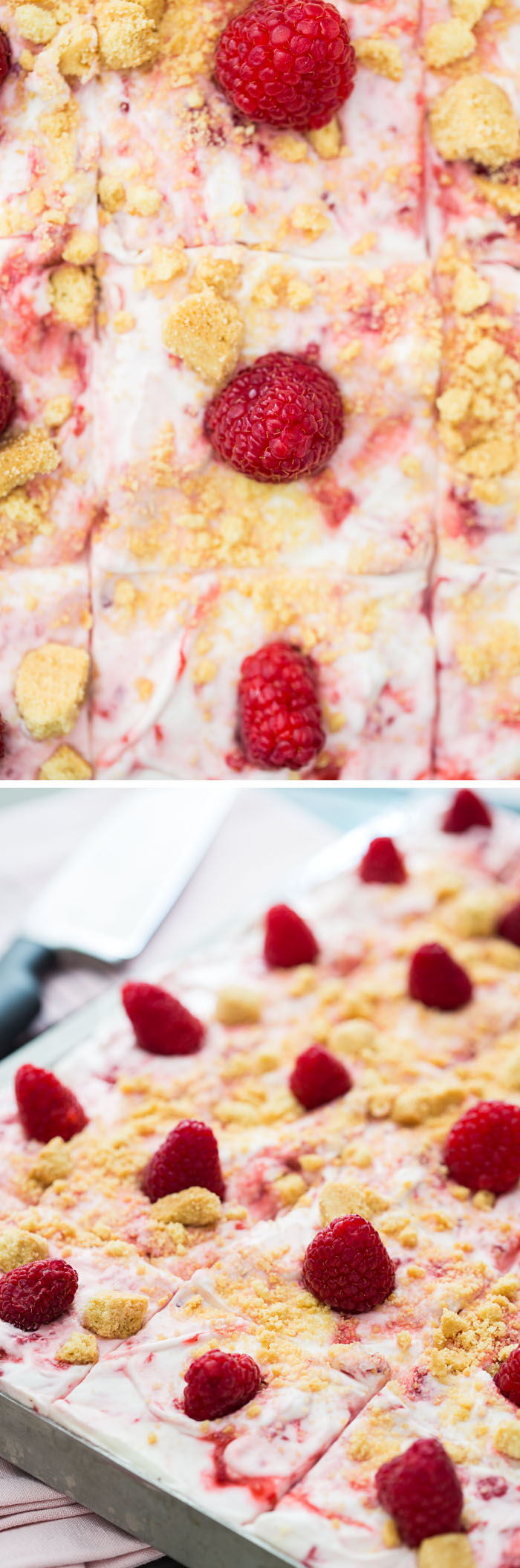 Raspberry Fool Sheet Cake
