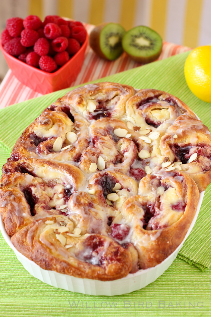 Raspberry Cheesecake Morning Buns
