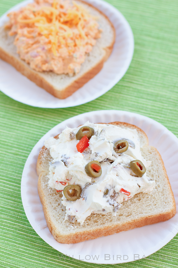 Simple Sandwich Spreads: Pimento Cheese and Olive Cream Cheese